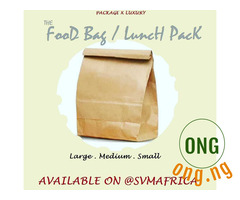 Brown paper bag/ food pack/ food carrier