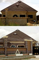 Stone coated roofing sheet.