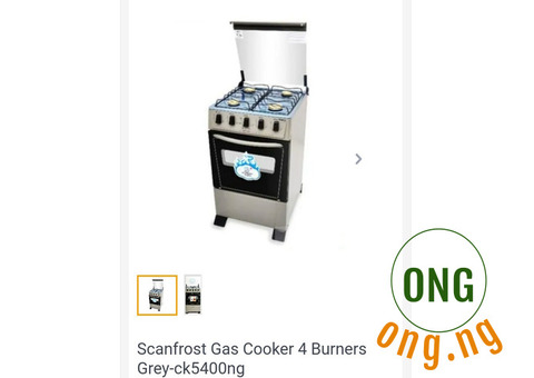 NEW SCANFROST CK-5400 GAS COOKER FOR SALE