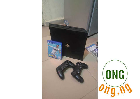 Play Station 4 Pro With 2 Controller Plus FIFA 2019