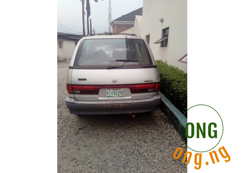 Gray Toyota Previa in an excellent working condition.