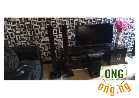 Fairly used tall boy LG home theatre