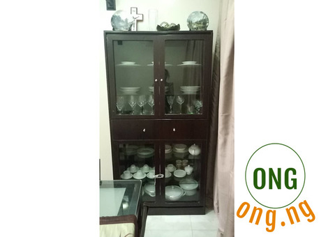 Relocation Sale: Display Cabinet for Plates and Glasses