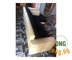 3 X 2 L SHAPED MIXED LEATHER CHAIR