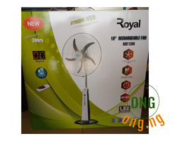 """Royal Strong Wind 18"""" Rechargeable Fan"""