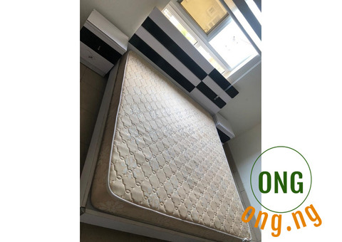 BEDSET WITH HEADBOARD, MATRESS AND TWO SIDE BOARD FOR SALE