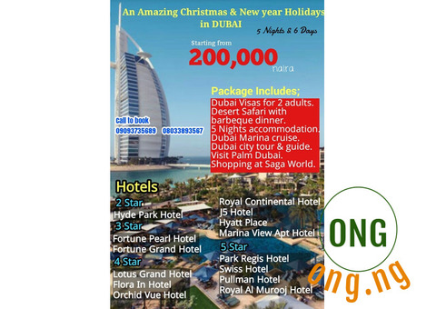 Christmas and New Year Holiday in Dubai