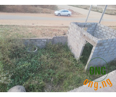 Land and Carcass for sale In Kuje General Hospital Road