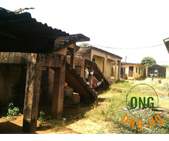 half plot with property on it for sell
