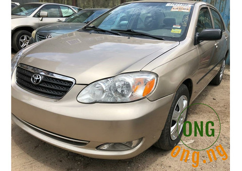 Toyota corolla for sale with the full option.
