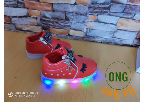 Trendy kids sneakers and shoes.
