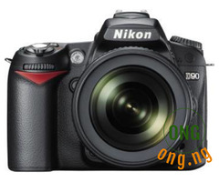 Nikon D90 DSLR camera body with lens