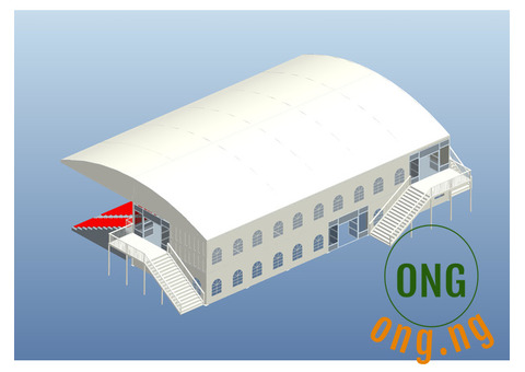 20m x 60m brand new marquee tent available for sale.