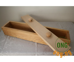 Durable wooden soap mold