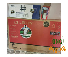 LG 43 inches TV + Free wall hanger & Power guard