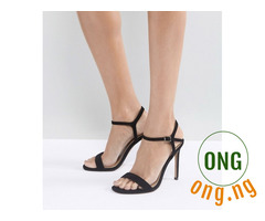 ASOS black strappy heels