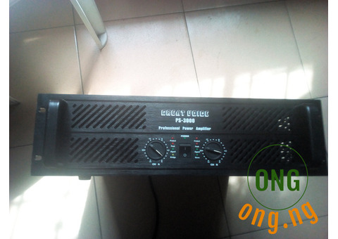 GREAT VOICE PS 3000 AMPLIFIER