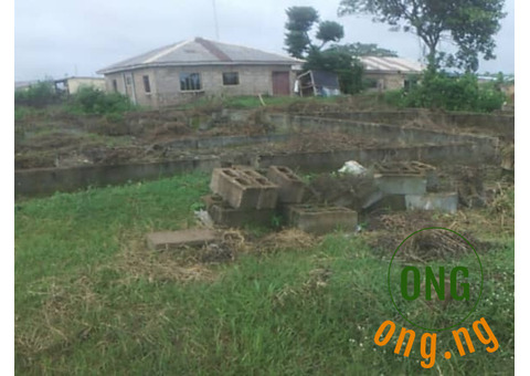 Land with foundation for sale